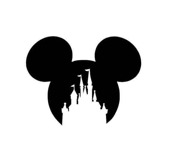 Heartbeat Mickey Castle Decal Sticker for Home Car Window Wall Macbook Laptop