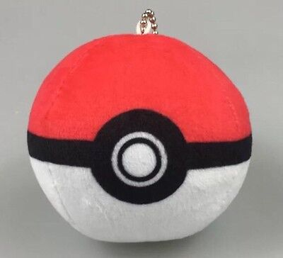 Pokemon Pokeball Plush Stuffed Animal Toy 7cm Diameter US Seller