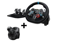 Brand New!! Logitech G29 Steering Wheel And Gear Shifter Bundle PS4, PC