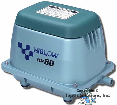 HIBLOW HP-80 LINEAR SEPTIC AIR PUMP AERATOR - NEW - 2 YEAR WARRANTY