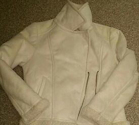 Girls faux suede jacket age 10-11