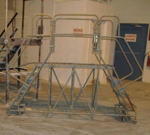 "Cotterman Rolling Work Stairs , Dual Access 60"" Platform , 40"" high Platform"