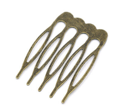 Antique bronze small hair comb – pack of 6