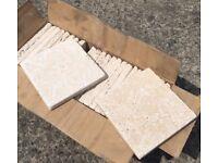Travertine natural stone tiles, 25 tiles per box, 100mm x 100mm tiles