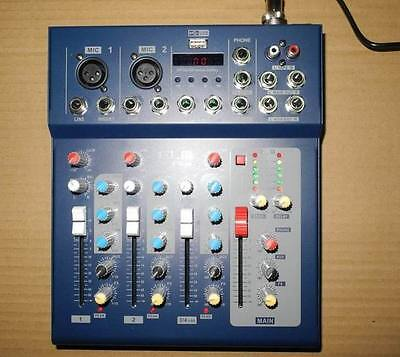 - Professional 4 Channel Mixer USB Power Mixing console DJ& Karaoke Mixer
