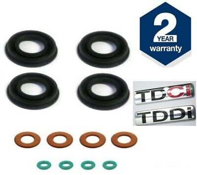 FORD TRANSIT INJECTOR SEALS MK3 MK6 MK7 2.0 2.2 2.4 TDCI TDDI x4 MONDEO 2000-14