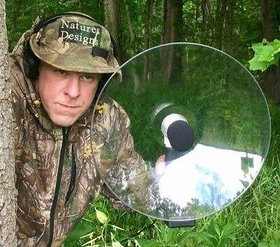 SPY Parabolic Amplifed Microphone, Bird watching, Long Range Hearing Device