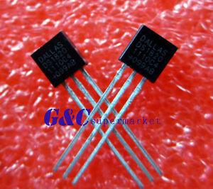2PCS-IC-DS18S20-DS1820-DALLAS-Wire-Digital-Thermometer-IC-NEW-DATE-CODE-11