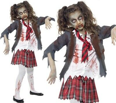 Kinder & Teenager Halloween Kostüm Zombie Schulmädchen Kostüm von - Zombie Kostüm Teenager Mädchen