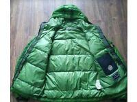 Stone island goose down mesh badge jacket size xxl