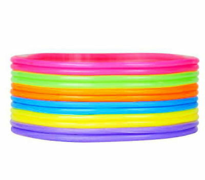 144pc Jelly Bracelets Neon Rainbow Bangle Birthday Party Favors Gifts Prizes Toy (Neon Birthday)