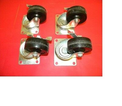Lot Of 4 Algood 3 Caster Wheels With Locking Brake
