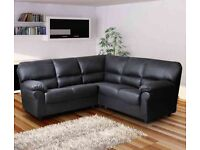 Candy Faux Leather Corner Sofa