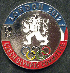 LONDON-12-Olympic-CZECH-REPUBLIC-NOC-logo-Internal-team-delegation-dated-pin