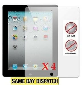 4 X Apple iPad 2 / 3 / 4 4th Anti-Glare Matte Screen Protector Cover Film& Cloth