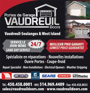 Garage Door Repairs / Openers / Springs / Parts - West Island West Island Greater Montréal image 5