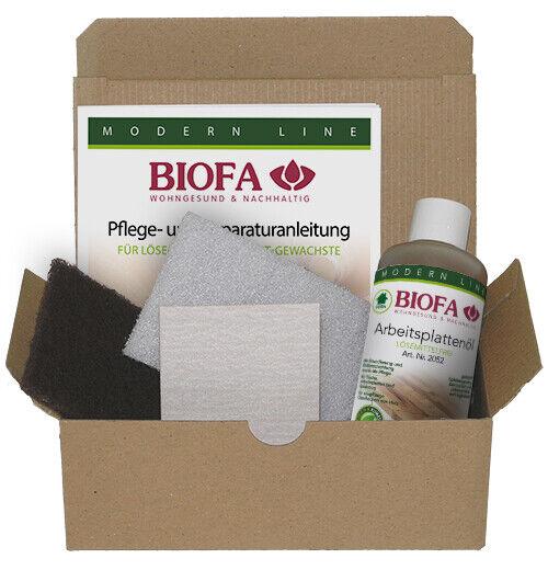 Biofa Holz Pflege- und Reparaturset 2081 Arbeitsplatten Holzboden Holztisch