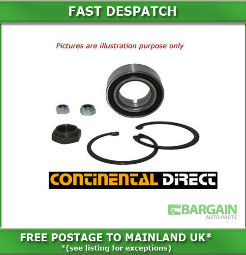 FRONT CONTINENTAL WHEEL BEARING KIT FOR PORSCHE 924 TURBO 2.0I TURBO 8/1979-8/19