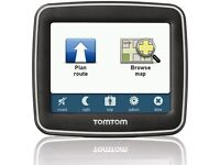 SATNAV TOMTOM START 1GB MEMORY WITH UK MAPS. INCLUDES ORIGINAL CHARGER AND WINDOW SUCTION MOUNT