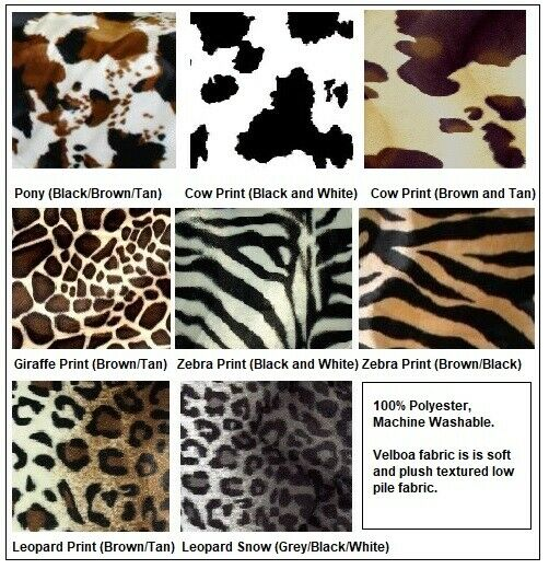 Faux Fur Animal Print Futon Cover Slip C