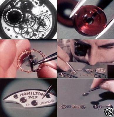 Hamilton Watch Wristwatch Pocketwatch Assembly Educational 2 Vintage Films DVD