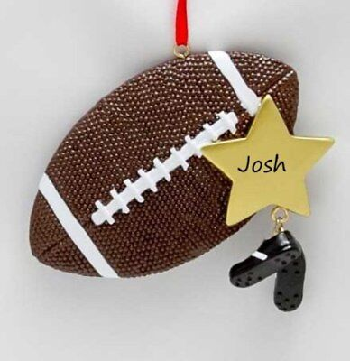 NFL Football Star Personalized Christmas Tree Ornament](Personalized Football Ornaments)