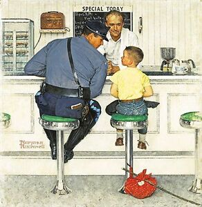 "Norman Rockwell print ""THE RUNAWAY"""