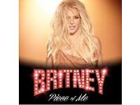 X2 Britney Spears tickets £95 each Sat 25th August 2018