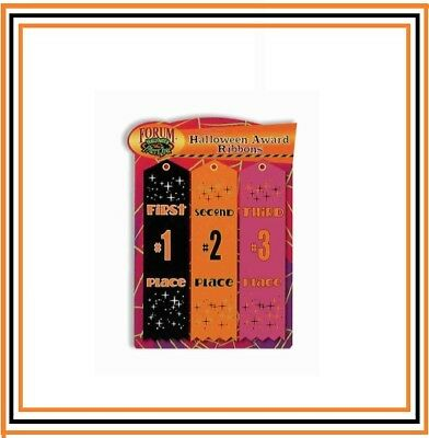 Party Station Halloween Costumes (3 pc Party Award Ribbons 1st 2nd & 3rd Place Halloween Costume Contest   )