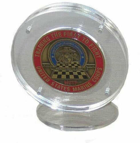 """1.75"""" Challenge Coin Display Holder Case with Stand, Clear Acrylic"""