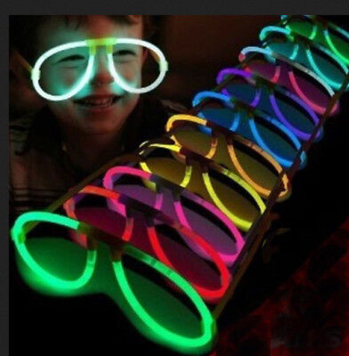 50 GLOW STICK AVIATOR GLASSES NEON CLUB RAVE NEW YEARS WEDDING PARTY FAVORS TOYS