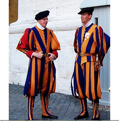 Switzerland Soldiers Cosplay Costume Papal Swiss Guard Uniform Carnival costume](Switzerland Halloween Costumes)
