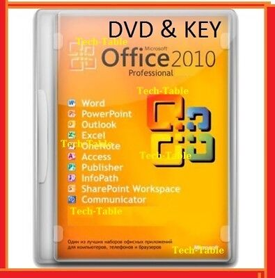 Full Office 2010 Professional 32   64 Bit Dvd   Licence Key   Word Excel Pro