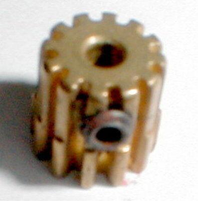 12 Tooth Brass Pinion Gear & Set Screw 48 Pitch 1/8