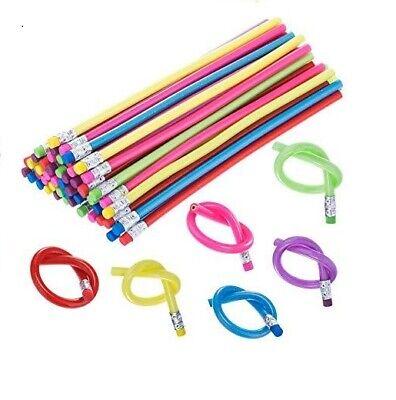 2pc Bendable non-break pencil sensory toy autism anxiety desk fidget - Pencil Fidgets