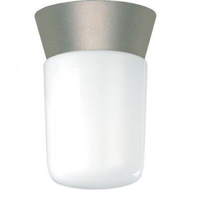 NEW Nuvo Lighting 1 Light Utility Ceiling Mount w/ White Glass Cylinder ~ 77-155