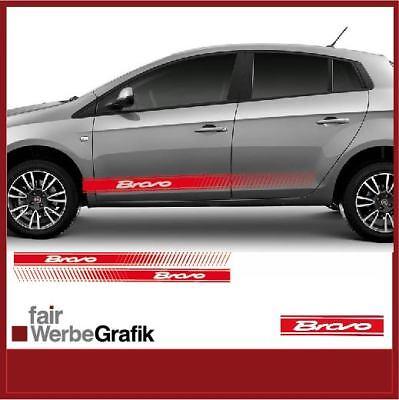 Fiat Bravo Abarth 500 EVO Seitenstreifen, Aufkleber, Schriftzug na sprzedaż  Wysyłka do Poland