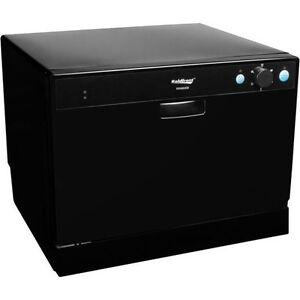 Countertop Dishwasher In Black : Portable-Countertop-Dishwasher-Black-Compact-Tabletop-Mini-Dish-Washer ...