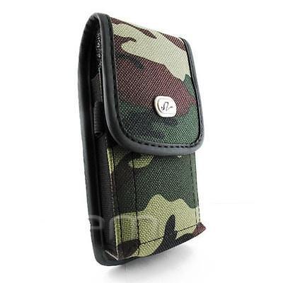 Camouflage Case Pouch Holster W Clip For Att Htc Faraday 2125, Alltel Htc Hero