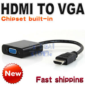 HDMI Male to VGA Female Adapter Component Converter HD 1080P Chipset Built-in