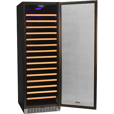 166 Bottle  Built-in Wine Cooler Refrigerator ...