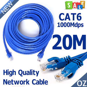 Eway (20M) High Quality RJ45 CAT6e CAT6 Ethernet LAN Network Cable 100M/1000Mbps