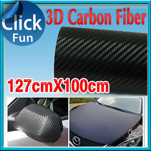 3D Carbon Fiber Vinyl Film Diagonal Roll Sheet Car Sticker Phone Laptop Wrap DIY