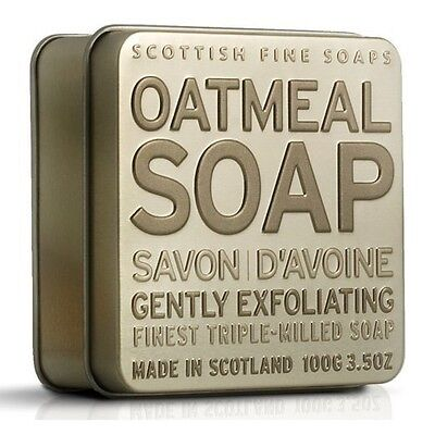Scottish Fine Soaps Exfoliating Oatmeal Soap In A Tin 100G 3 5Oz
