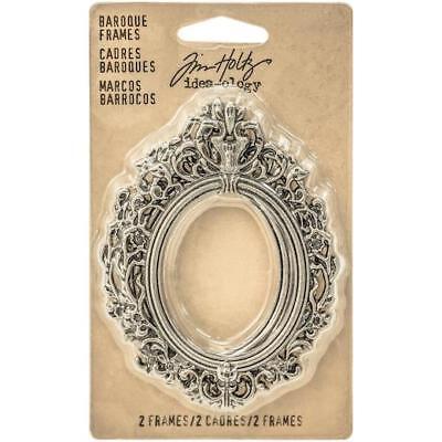 Tim Holtz Idea-ology Baroque Frames 2pcs - Antique Nickel TH93267