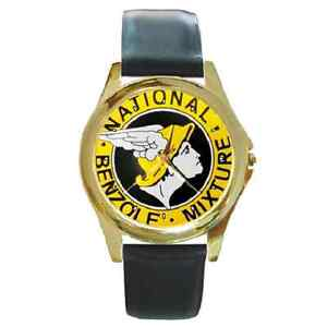 NATIONAL BENZOLE MIXTURE VINTAGE REPRO SIGN WRISTWATCH **BRILLIANT GIFT ITEM***