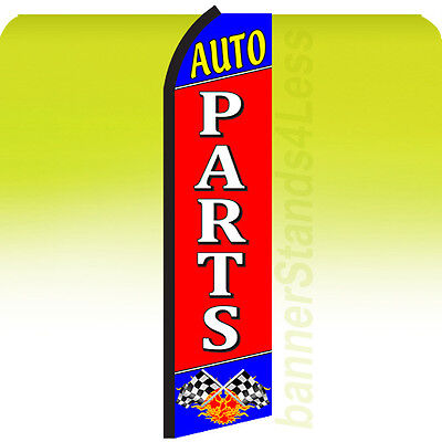Auto Parts Swooper Flag Feather Flutter Banner Sign 11.5 - Rz