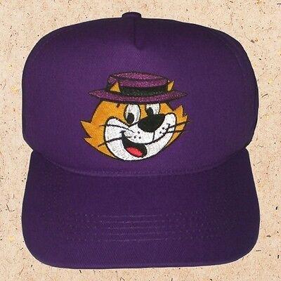 Top Cat Face Cap Cartoon Benny the Ball Brain Spook Embroidered Gabardine Hat
