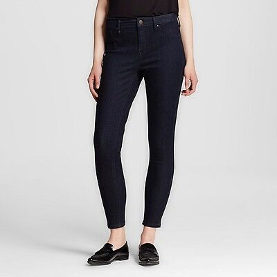 Mossimo Womens Stretch Dark Rinse Wash High Rise Jeggings Jeans New