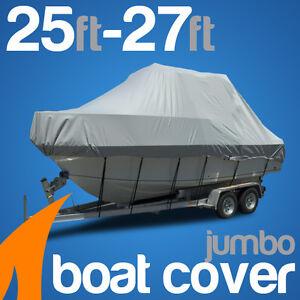 Heavy-Duty 25ft-27ft / 7.6m-8.2m Trailerable Jumbo Boat Cover